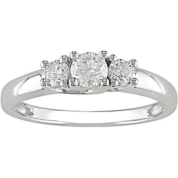 Miadora 14k Gold 1/2ct TDW Tound Diamond Engagement Ring (H-I, I1-I2)