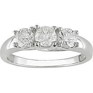 Miadora 14k Gold 1ct TDW 3-stone Diamond Engagement Ring (H-I, I1-I2)