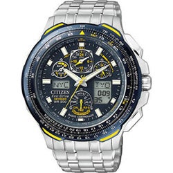 Citizen Blue Angels Skyhawk Men's Steel A-T Watch