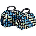 Luca Vergani Multi-Blue Dot 2-piece Cosmetic Case Set