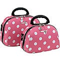 Luca Vergani Pink Dot 2-piece Cosmetic Case Set