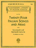 Twenty-Four Italian Songs and Arias of the 17th and 18th Century: Medium Low Voice (Paperback)