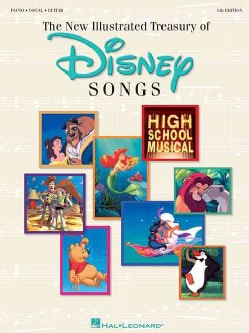 The New Illustrated Treasury of Disney Songs: Piano-Vocal-Guitar (Paperback)