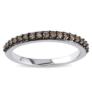 Miadora 14k Gold 1/4ct TDW Champagne Diamond Band
