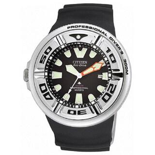 Citizen BJ8050-08E Professional Diver's Eco-Drive Men's Rubber Band Watch