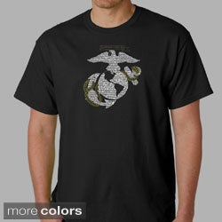 Los Angeles Pop Art Men's US Marine Emblem T-shirt