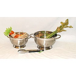 Stainless Steel Euro-style Colanders (Set of 2)