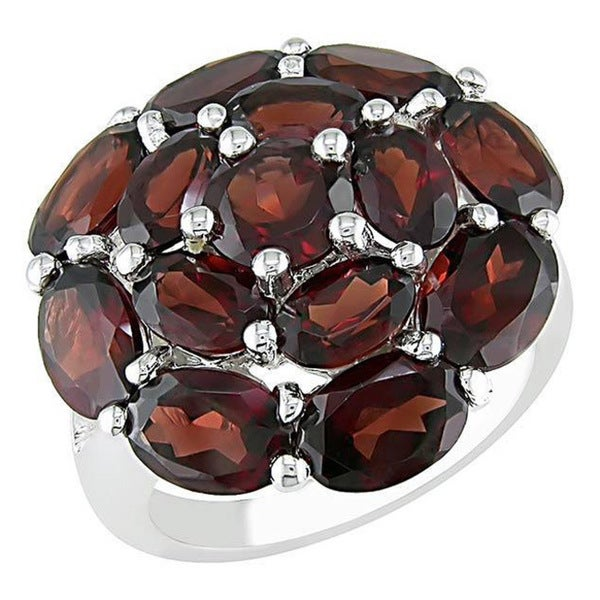 M by Miadora Sterling Silver Garnet Ring