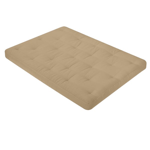 Loft 6 inch Cotton Foam Futon Mattress w Microfiber