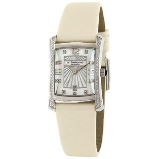Stuhrling Original Daisy Women's Diamond Swiss Quartz Watch