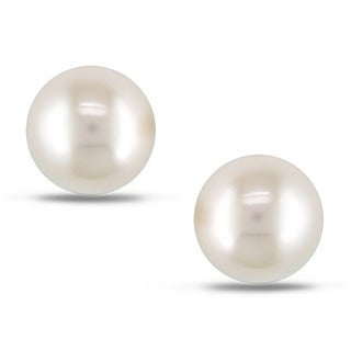 Miadora 14k Gold Cultured  Pearl Earrings (9-10 mm)