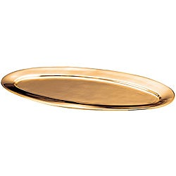 Oval-shaped Solid Copper Tray