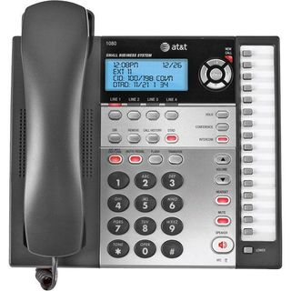 AT&T 1080 4-Line Expandable Corded Small Business Telephone with Digi