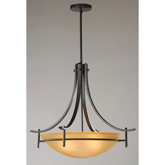 Contemporary Antique Bronze 3-light Chandelier