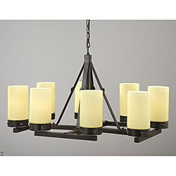 Antique Bronze Linear 8-light Chandelier