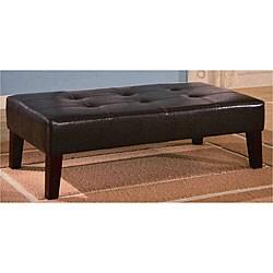 Dark Brown Tufted Ottoman Bench