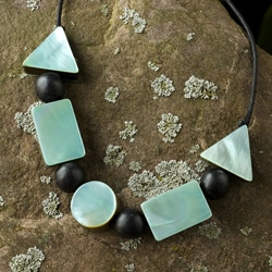 Mother of Pearl 'Geometry Glows' Necklace (Philippines)