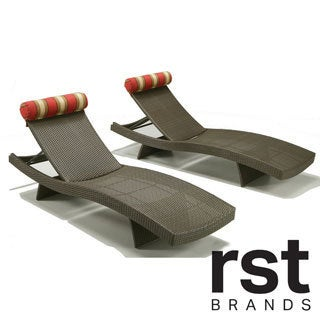 Cantina chaise lounge chairs set of 2 for Alyssa outdoor chaise