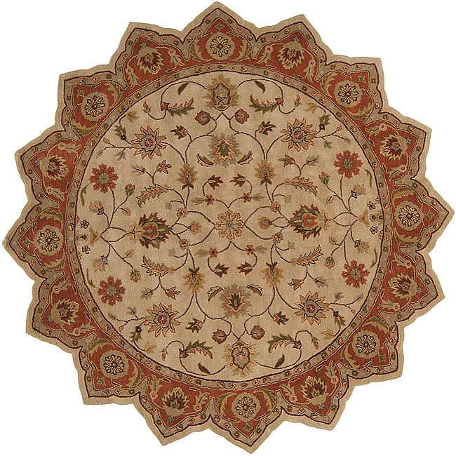 Hand-tufted Camelot Wool Rug (8' Star)