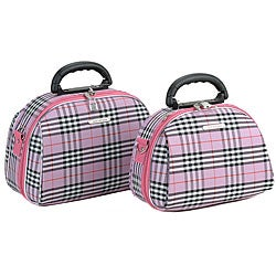Luca Vergani Pink Cross 2-piece Cosmetic Case Set