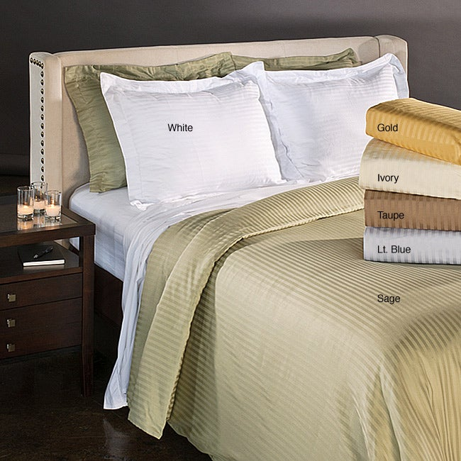 Luxor Treasures Egyptian Cotton 1500 Thread Count Striped 3-piece Duvet Cover Set