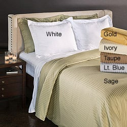 Egyptian Cotton 1500 Thread Count Striped 3-piece Duvet Cover Set