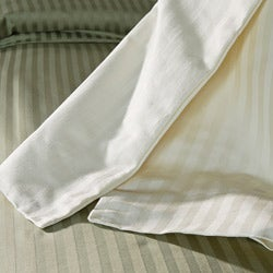 Simple Elegance Egyptian Cotton 1500 Thread Count Striped 3-piece Duvet Cover Set