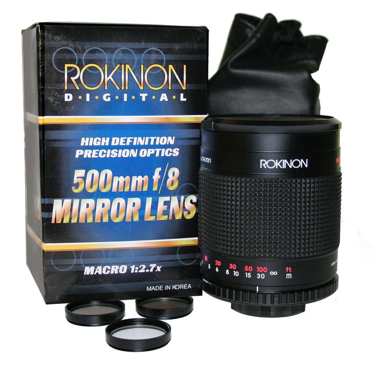 Rokinon 500mm/ 1000mm Mirror Lens for Sony Alpha