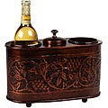 Antique Embossed Two-bottle Wine Chiller