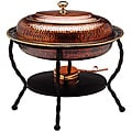 Oval Antique Copper Chafing Dish