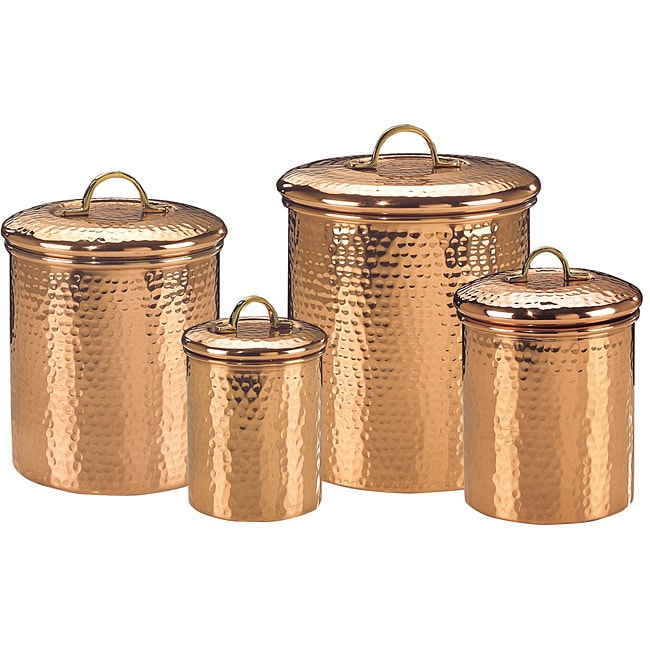 hammered copper 4 piece canister set overstock shopping choosing the best kitchen canister white ceramic