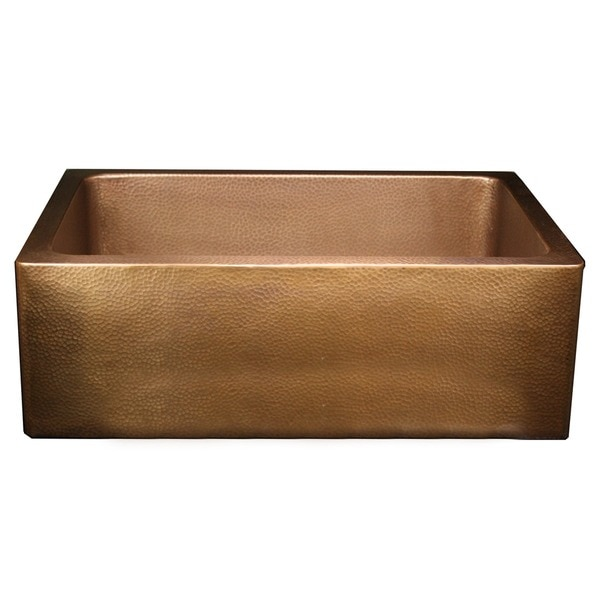 Apron Sink 30 : Hammered 30-inch Farm/Apron Sink - 11915661 - Overstock.com Shopping ...
