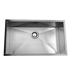 Zero Radius Single Bowl Kitchen Sink