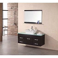 Design Element Espresso Contemporary Single Bathroom Vanity