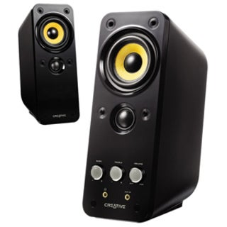 Creative GigaWorks T20 2.0 Speaker System - 28 W RMS - Glossy Black