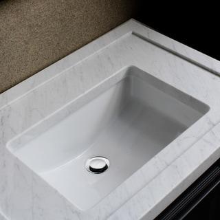 Undermount Sink Vanity : Highpoint Collection Ceramic 18x12-inch Undermount Vanity Sink - White ...