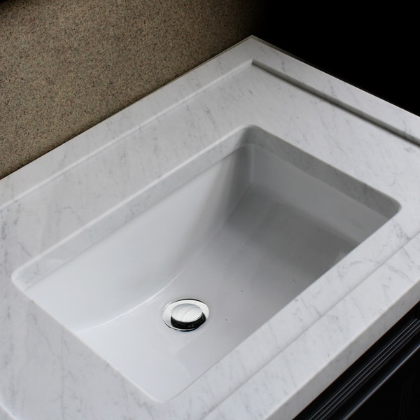Undermount Sink Mounting : Highpoint Collection Ceramic 18x12-inch Undermount Vanity Sink - White ...