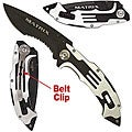 Black Matrix Stainless Steel Folding Knife