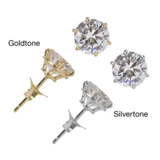 NEXTE Jewelry Goldtone or Silvertone Martini Set Stud Earrings