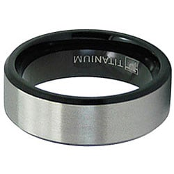 Men's Titanium Two-Tone Ring (8 mm)