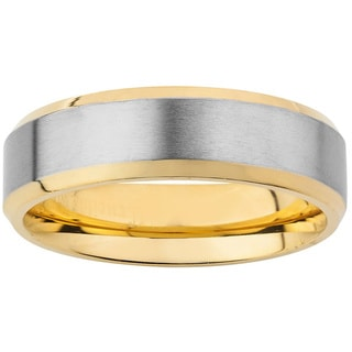 Men's Goldplated Titanium Two-tone Band (6.5 mm)