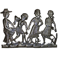 Metal 'Peasant Band' Oil Drum Art (Haiti)