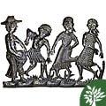 Metal 'Peasant Band' Oil Drum Art (Haiti)