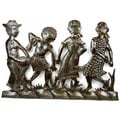 Metal 'Peasant Band' Oil Drum Art  , Handmade in Haiti
