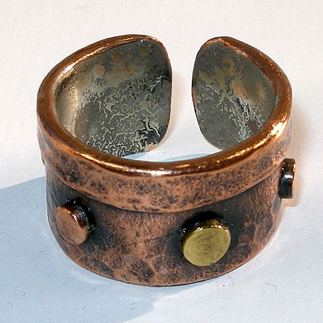 Studded Copper Adjustable Ring (Chile)