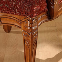 Curved Arm Paisley Wine Chair