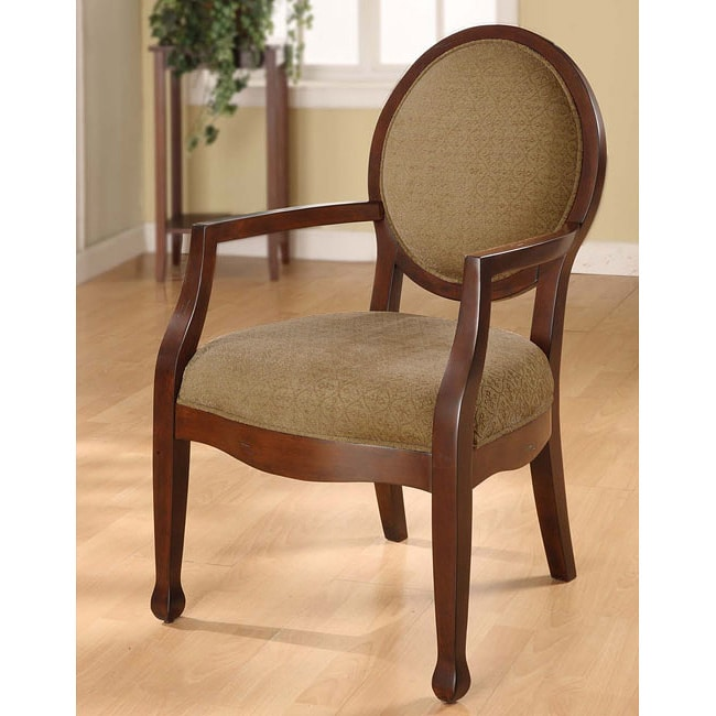 Oval-back Fern Arm Chair