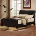 Tuscany Villa Dark Brown Upholstered Queen-size Sleigh Bed