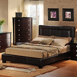 Tuscany Villa Upholstered Queen Platform Bed