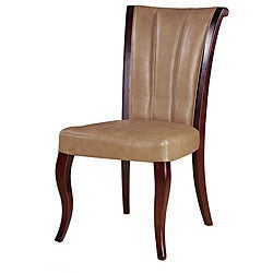 Tan Leather Dining Chairs (Set of 2)
